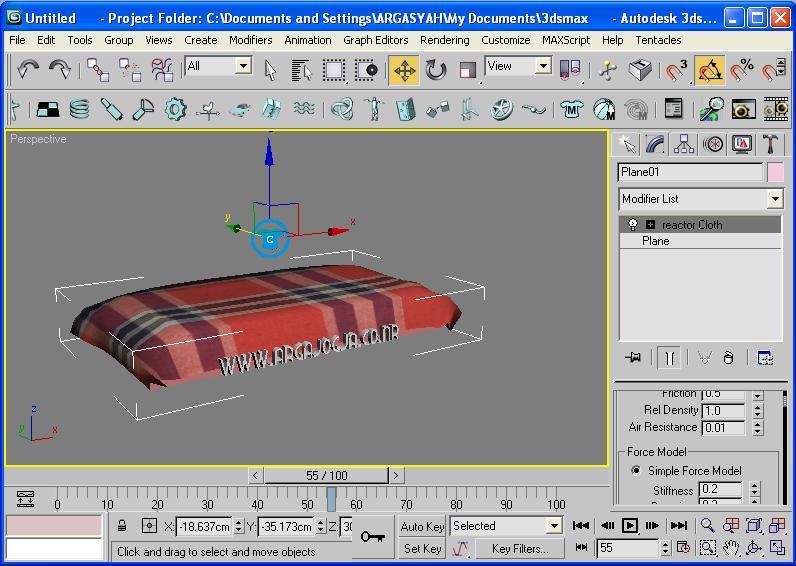 Membuat objek kain selimut menggunakan 3DSMax | Iqbal